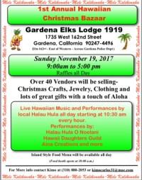 1st Annual Hawaiian Christmas Bazaar