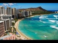 WAIKIKI , HONOLULU - OAHU / HAWAII , USA - A WALKING TRAVEL TOUR - HD 1080P